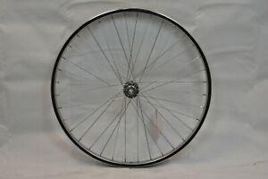 """Sta-Tru Rear 26"""" MTB Bike Wheel & Hub OLW135 24mm 36S Silver Freewheel Charity!!"""