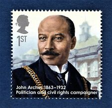 """""""John Archer Politician and Civil Rights Campaigner"""" illustrated on 2013 Stamp"""