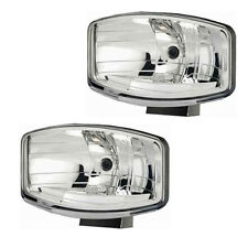 Pair of New Hella Jumbo 320FF Clear Lens Driving / Spot Lamps Without Side Light