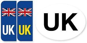 Pair of Road Legal UK United Kingdom Symbol Car REFLECTIVE Vinyl Sticker Number