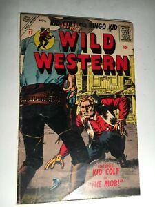 Rare 1956 Atlas/Marvel WILD WESTERN Comic #52 VG - Kid Colt, Ringo Kid