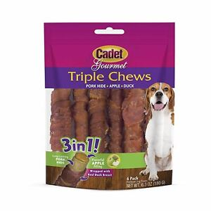 Cadet Triple Chew Treat Duck and Apple 6 pack