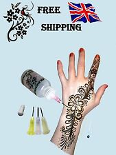 1 Henna Bottle 30ml With 4 Tips For Tattoo Card Crafts Cake Decorating & Drawing