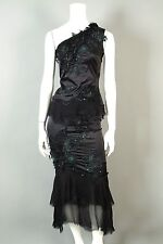 MANDALAY 2 Beaded Stretch Top Skirt Gown Cocktail Evening Dress Sequins Lace 2pc
