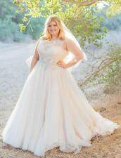 Plus Size Elegant Wedding Dress Bridal Gowns Custom 16 18 20 22 24 26 28 30