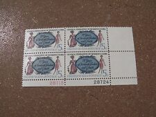 VTG Plate BLK 4 5c Great Federation of Women's Clubs US Postage Stamps #1316   A