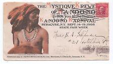 NATIVE AMERICAN INDIAN 1908 Illus KA-NOO-NO KARNIVAL Syracuse NY FAIR - AD Cover