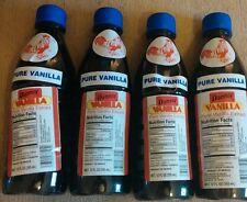 Danncy Pure Mexican Vanilla Extract 12oz Ea. Lot of 4 Plastic Bottles Mexico