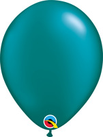 """11"""" HELIUM QUALITY METALLIC LATEX BALLOONS TEAL PACK OF 100 QUALATEX BALLOONS..."""