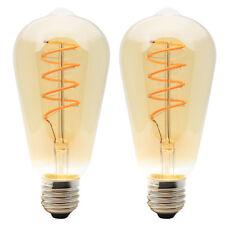 2x Dimmbare LED E27 4W ST64 Spiral Filament Glühbirne Edison Vintage Birne 2200K