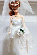 Vintage 1997 Repro 1958 WEDDING DAY BRIDE BARBIE REDHEAD w FLOWER BOUQUET