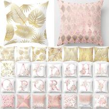 "Pink Rose Cushion Cover Throw Waist Pillow Case Sofa Bedroom Home Soft Decor 18"""