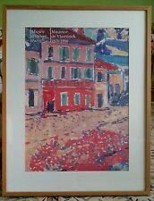 Vintage Musee d'Orsay Paris Maurice de Vlaminck print 35 by 27 inches