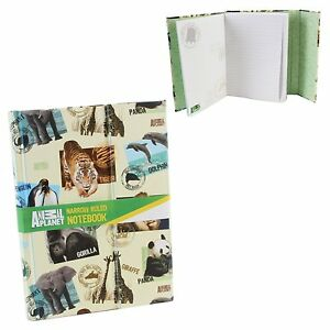 Animal Planet Licence Étroit Dirigée Notebook 96 Feuilles A5 Avec Déployant Tab