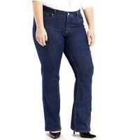 Levis Woman Plus Sz 16W M 415 Classic Fit Bootcut Jeans Stretch Denim Pants $60