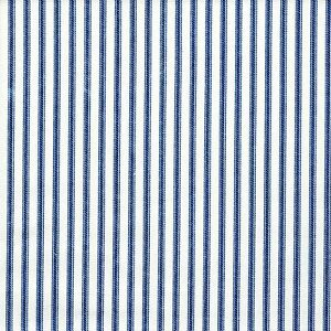 Carolina Linens Tailored Bedskirt in Farmhouse Ocean Blue Ticking Stripe