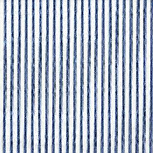 Carolina Linens Tailored Bedskirt in Farmhouse Ocean Blue Ticking Stripe