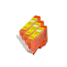 3 YELLOW Ink Replacement w/ Chip for CLI-226 Canon MG5220 MG5320 MG6120 MG6220