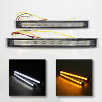 Front Fog Spot Lights Car Van Pickup+Indicator Led Drl For Ford Ka Focus Mondeo
