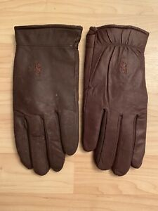 Bob Allen Brown 100% Nylon Gloves Size Large synthetic suede excellent