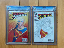 DC Comics Supergirl #1 CGC 9.8 Regular and Sketch Covers Michael Turner covers