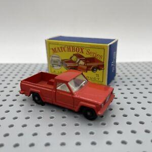 Lesney Matchbox Series 71 Jeep Gladiator Pick-Up Truck Original Box
