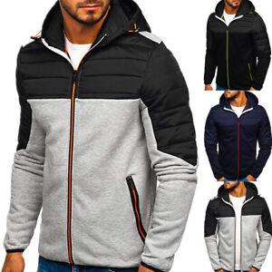 Man Hoodie Fleece Hooded Jacket Sweatshirt Warm Winter Work Wear Clothes Coat