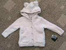 Toddler Girls 2T Cynthia Rowley Hooded Button Sweater Jacket Soft Pink/Ivory