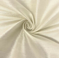 "IVORY Poly Dupioni Fabric 60"" Width Sold By The Yard"