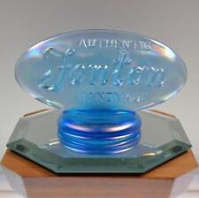 FENTON LOGO SIGN Celeste Blue 90th ANNIVERSARY 1995 OVAL 9499CB FREE USA SHIP