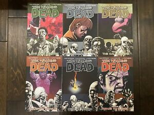 The Walking Dead TPB Trade Paperback Graphic Novels 5 6 7 8 9 10  Lot of 6
