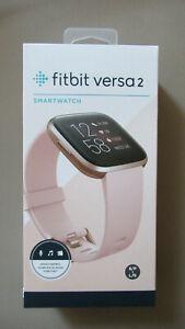 Fitbit Versa 2 Smartwatch Gesundheits - und Fitness -Smartwatch rosa NEU