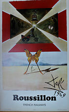 Salvador Dali Lithograph Butterfly Suite French Railway Roussillon 1969 Rare