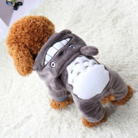 Warm Soft Pet Dog Cat Clothes Cartoon Puppy Costumes Autumn Winter Clothing _Q