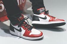 Nike Air Jordan 1 alto og serpiente de Satén UK 8.5 EU43 Gimnasio Rojo Negro Blanco Unisex 🚀
