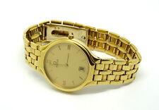 Mens Vintage Swiss OMEGA Deville 750 18k Solid Gold Quartz 1436 Watch 1960316