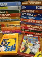ATARI 2600 GAMES LOT YOU PICK - COLLECTORS COME SEE COMPLETE IN BOX CIB