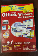 Professor Teaches Microsoft Office Windows Web Graphic Super Set CDS DVD ROM NEW