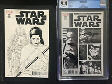 Star Wars 19  & 21  (CGC 9.4) sketch variants NM Task Force 99 Bad Batch