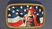 JOHN WAYNE Epoxy Photo Belt Buckle - US FLAG - NEW