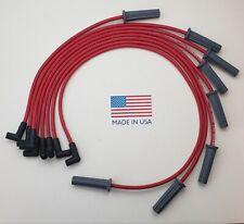 Pontiac 326 350 389 400 455 Red 85mm Hei Spiral Core Usa Made Spark Plug Wires Fits Pontiac