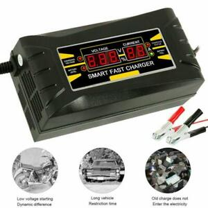 Car Battery Charger 110-240V Motorcycle Pulse Repair Type AGM Charger