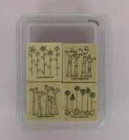 Stampin' Up! Lot 2003 Simple Somethings Birds Wood Rubber Stamp Set of 4 w/Paper