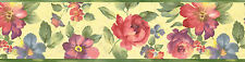 """FLOWERS-BORDER-7""""HIGH-$7.00-15 FT ROLL-FREE S&H"""