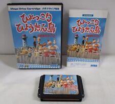 Mega-Drive Genesis -- Hyokkori Hyoutan Jima -- Box. JAPAN Game Sega. 12856
