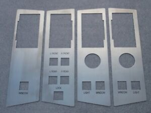 Reproduction Ford P6 LTD Power Window / Arm Rest Decal Plates w/tape adhesive