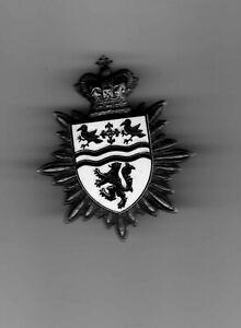 welsh/wales clwyd fire brigade cap badge 2 lugs