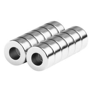 1/2 x 1/4 x 1/4 Inch Neodymium Rare Earth Ring/Donut Magnets N42 (12 Pack)