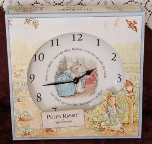 Wedgwood Peter Rabbit Nursery Wall Clock Plate Made in England BEATRIX Potter