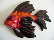 Superbe poisson   céramique  à accrocher au mur VALLAURIS 1